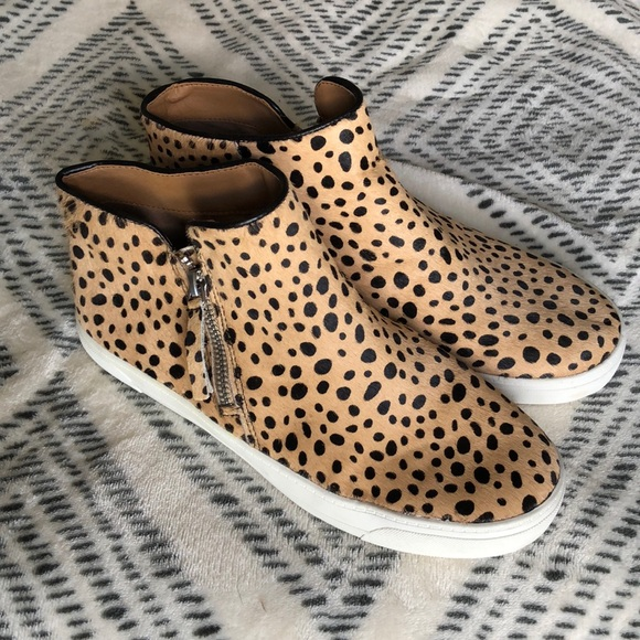 Leopard print sneaker bootie